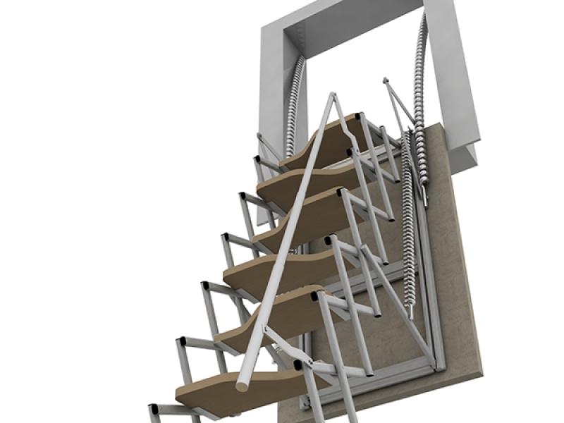 Scale a scomparsa su misura a padova scale retrattili padova - Scale a parete ...